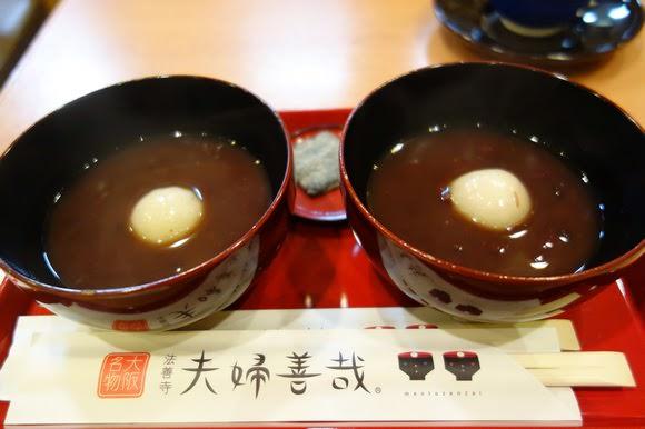 【日本】夫婦善哉.法善寺.姊喝的不是紅豆湯,是浪漫!